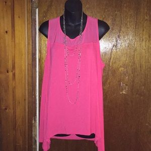 Dana Buchanan size xl women's pink rose top